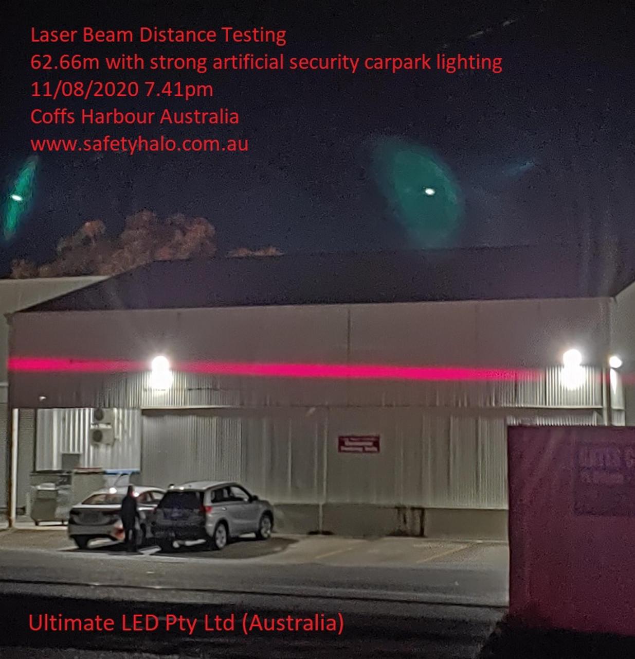 62.66m of laser safety halo beam Travel