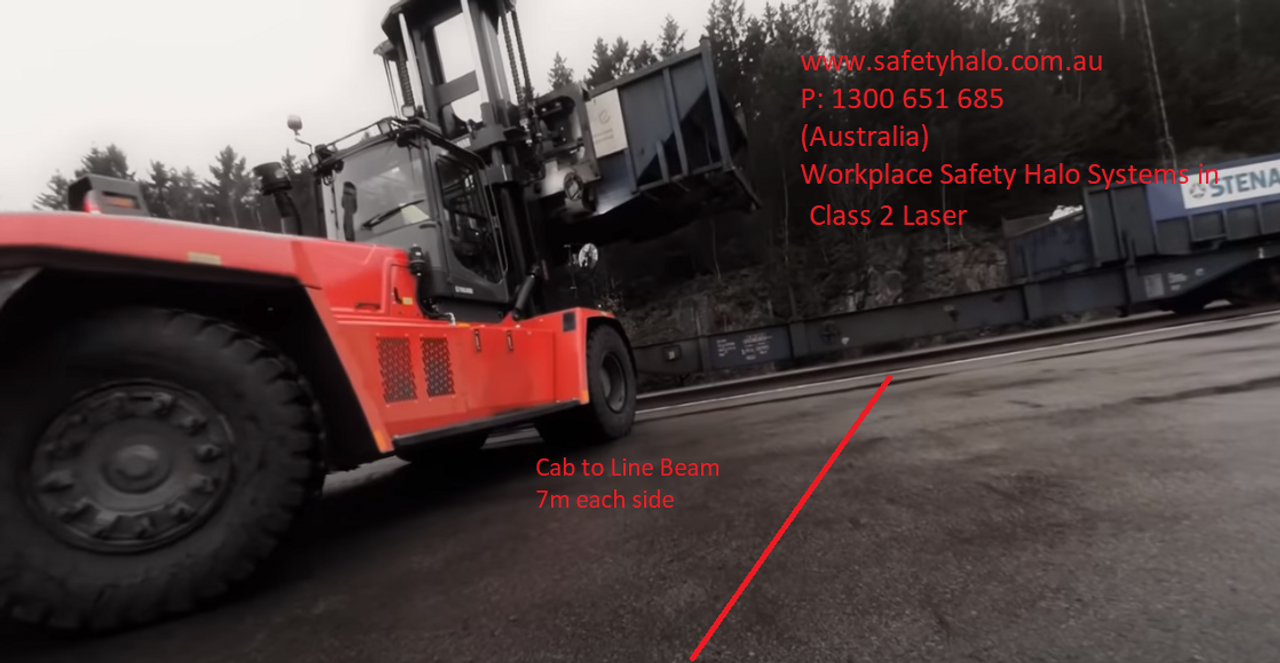 1. Laser Safety Halo Red Line Boundary Beam. Workplace Safety Exclusion Zone Around Heavy Machinery. Mining Machines Exclusion Zone. Warehouse Exclusion Zones. Transport Vehicle Loading Bay Exclusion Zones. Large Forklifts Exclusion Zone Kit