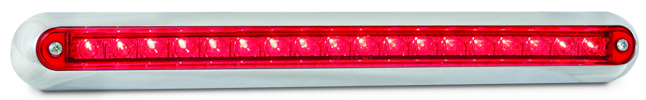 380CR12 - Stop, Tail Strip Light. Low Profile. Slimline Design. Chrome Bracket. 12v Only. Single Pack. 5 Year Warranty. Autolamp. Ultimate LED.