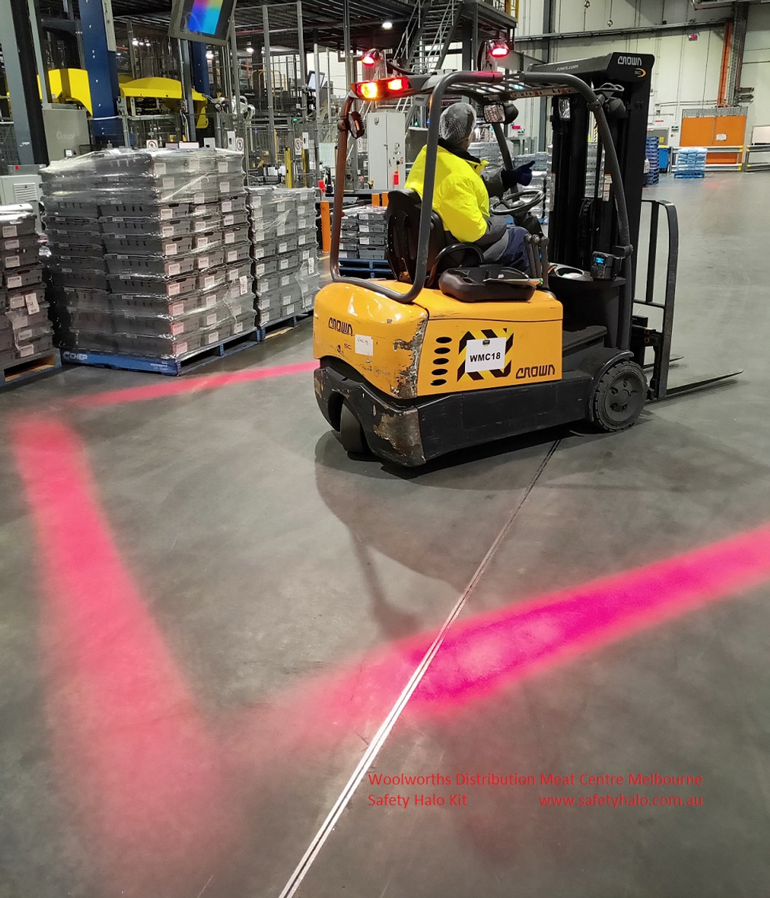 Safety Halo System Woolworth's Meats Forklift Ultimate LED