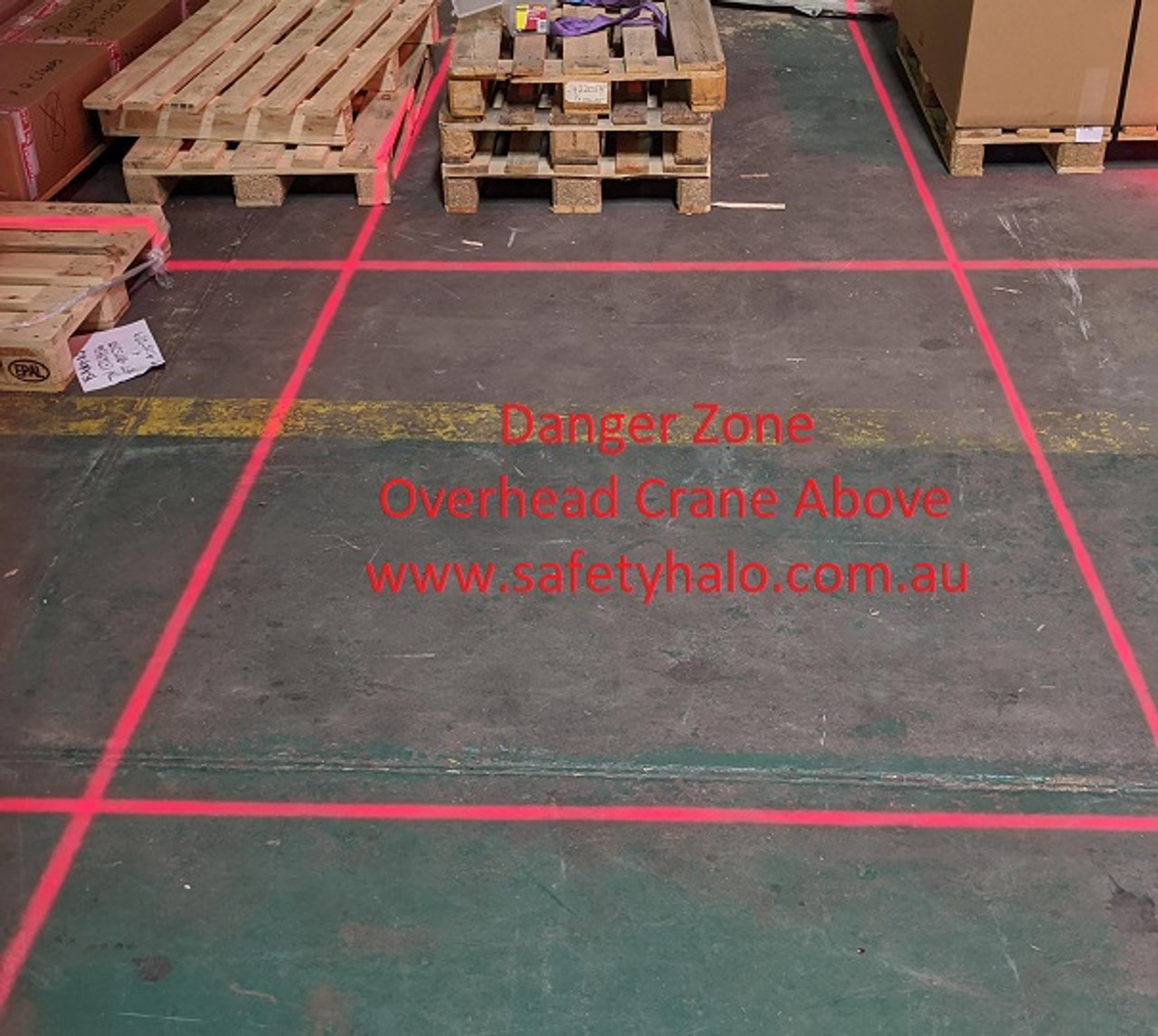 Laser Red Beam for Overhead Crane Awareness Warning Systems