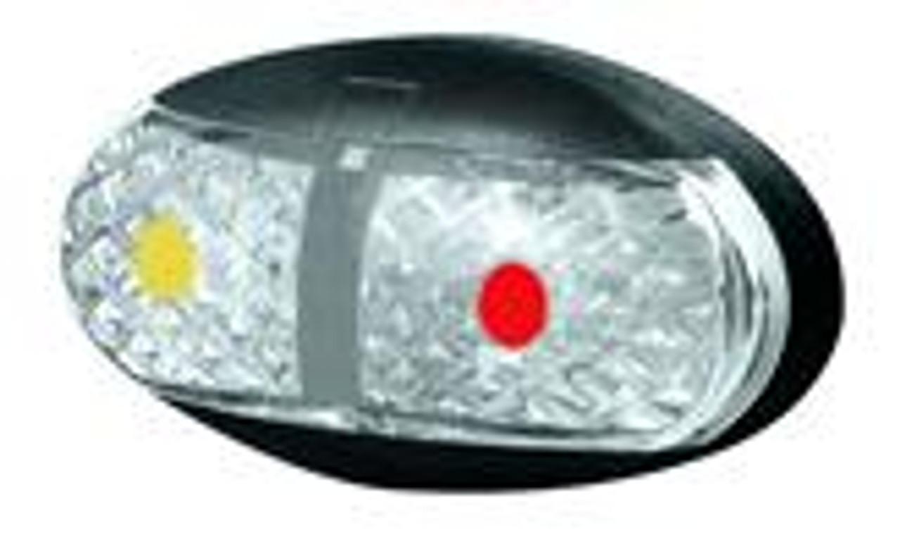 Roadvision Side Marker Amber & Red Marker LED Light. 2.5m Wiring Harness. White and Chrome Base available. Ultimate LED