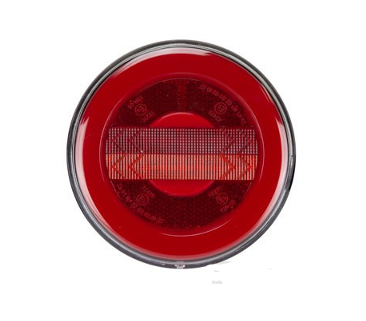 BR122ARR - Stop Tail and Indicator Light with Reflector. Round Stop Tail and Indicator Light. Surface Mount. Glow Tail Light. Multi-Volt 10-30v. RoadVision. Ultimate LED.