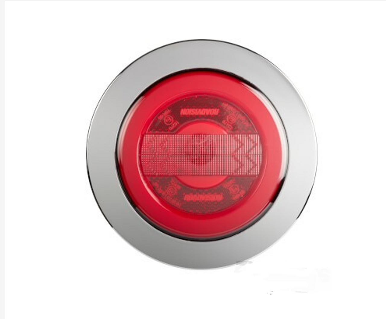 BR152RRC - Stop Tail Round Light. Chrome Surrounding. Glow Tail Light. Recessed Mount. Multi-Volt. Single Pack. Ultimate LED.