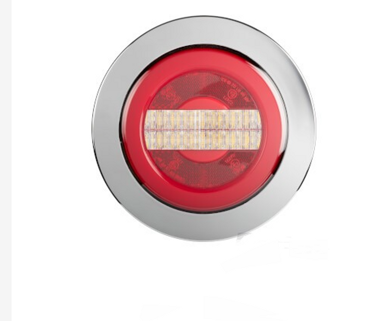BR152RWC - Reverse Round Light with Tail Light. Chrome Surrounding. Glow Tail Light. Recessed Mount. Multi-Volt. Single Pack. RoadVision. Ultimate LED.