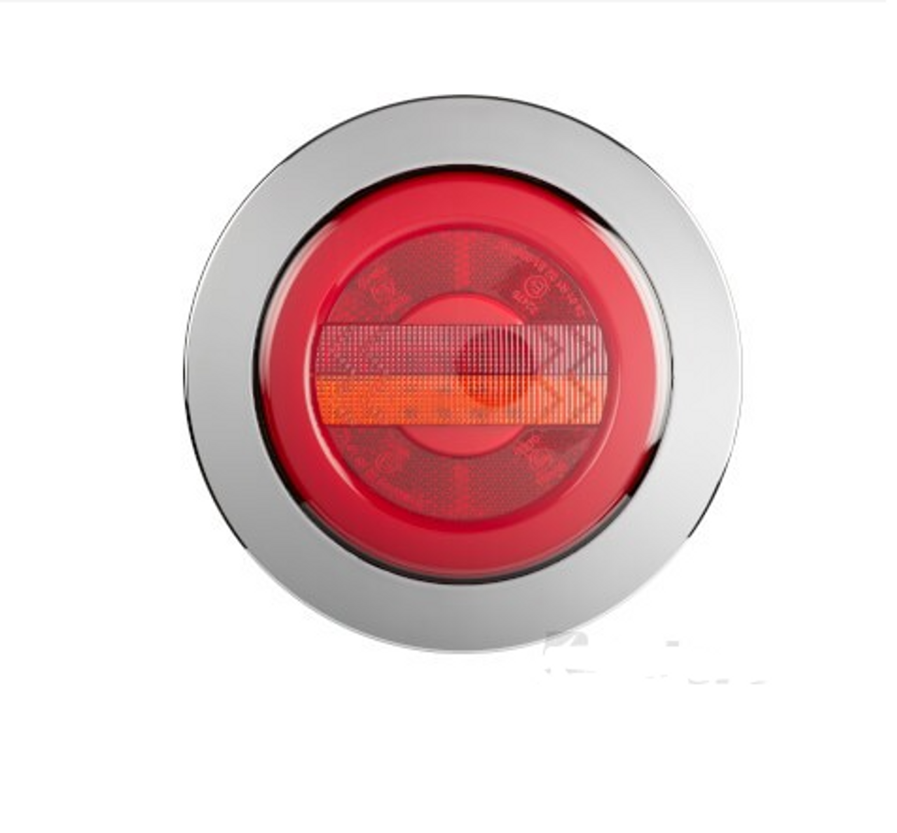 BR152ARRC - Stop Tail Indicator with Reflector. Round Light. Chrome Surround. Glow Tail Light. Recessed Mount. Multi-Volt. Single Pack. RoadVision. Ultimate LED.