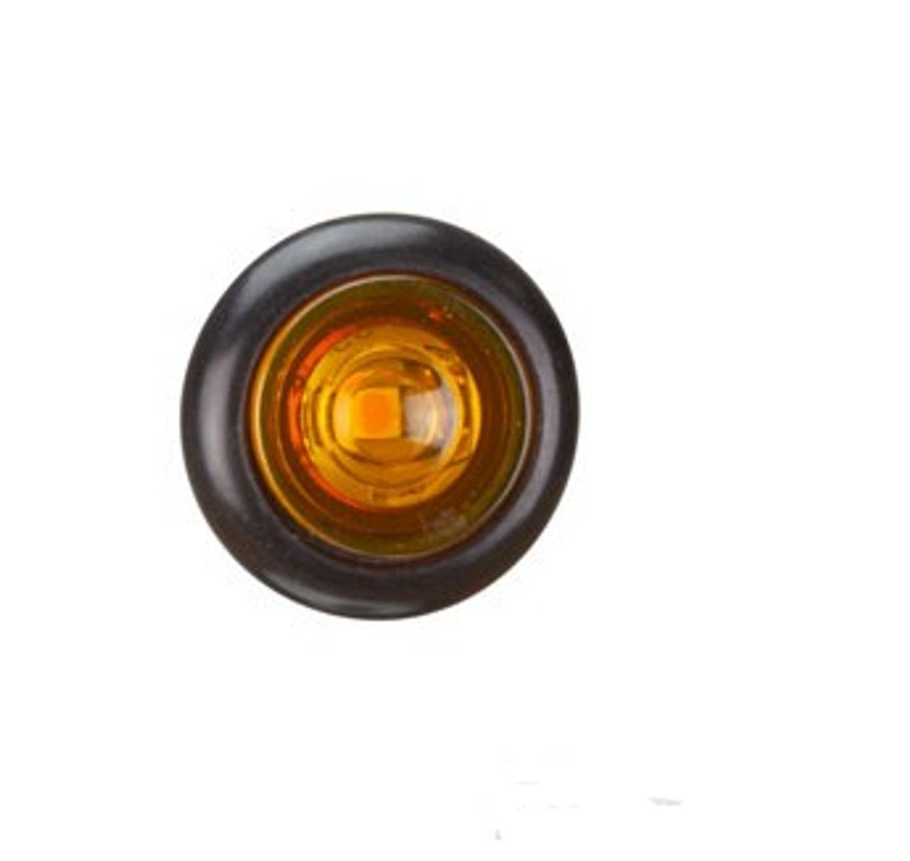 BR11A - Clearance Light LED Amber. BR11 Series. 10-30V. Flush Rubber Mount. Small Round Light. RoadVision. Ultimate LED.