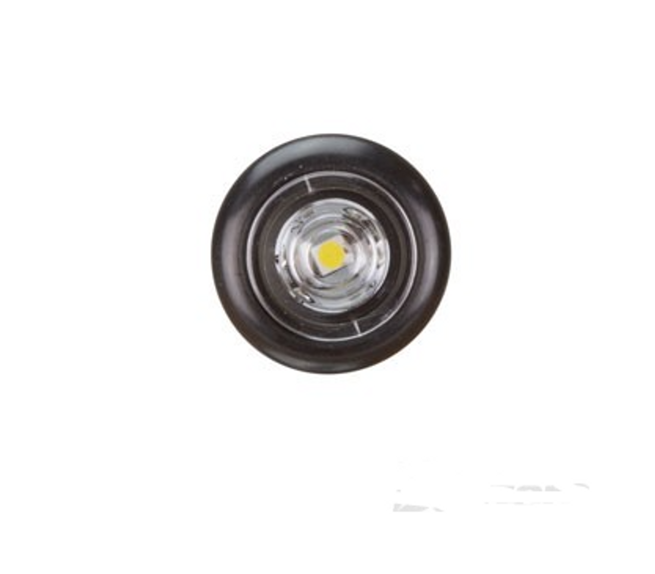 BR11W - Clearance Light LED White. BR11 Series. 10-30V. Flush Rubber Mount. Small Round Light. RoadVision. Ultimate LED.