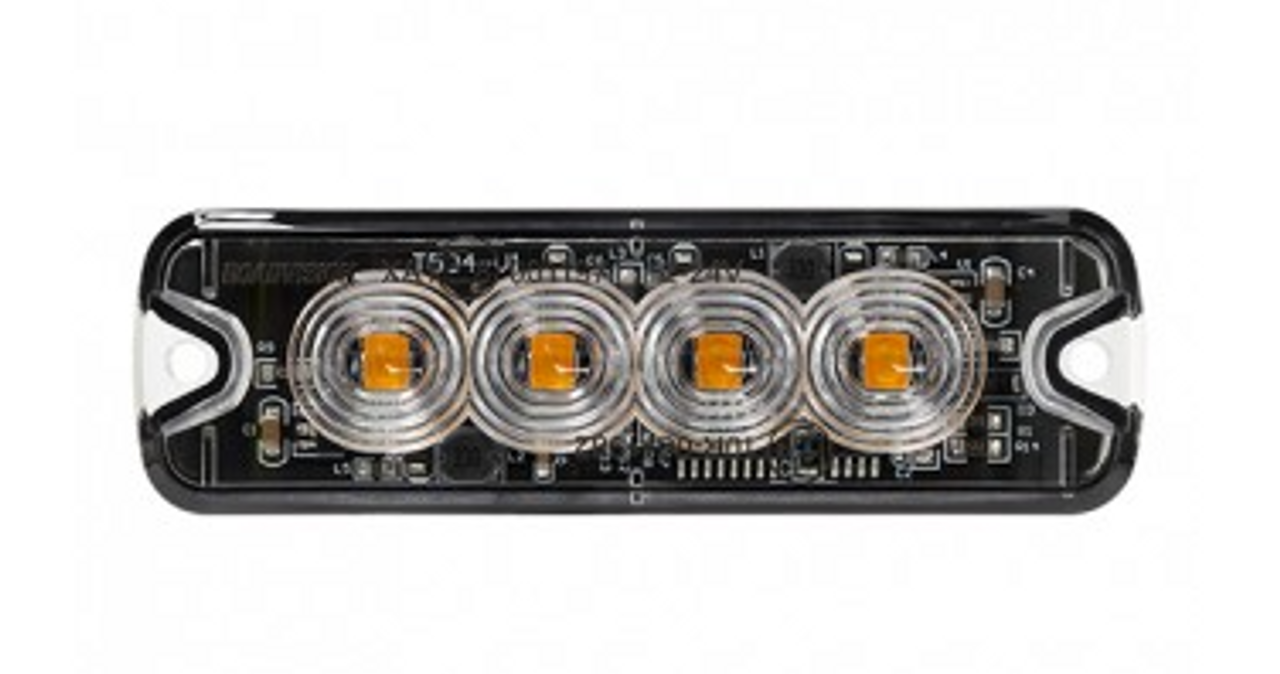 RSM5504A - LED Strobe Module. Amber. Surface Mount. Multi-Volt. 19 Flash Patterns. Class 1. RoadVision. Ultimate LED.
