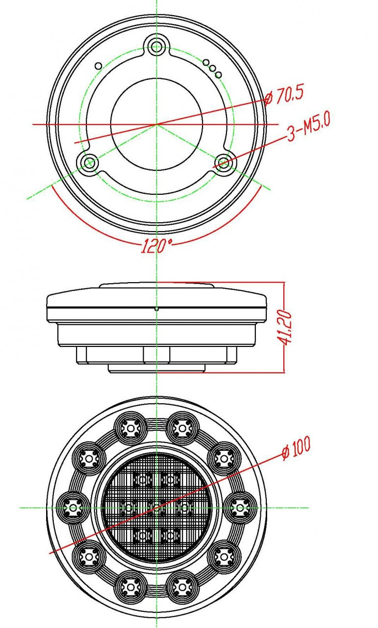 Line Drawing of Tail Light