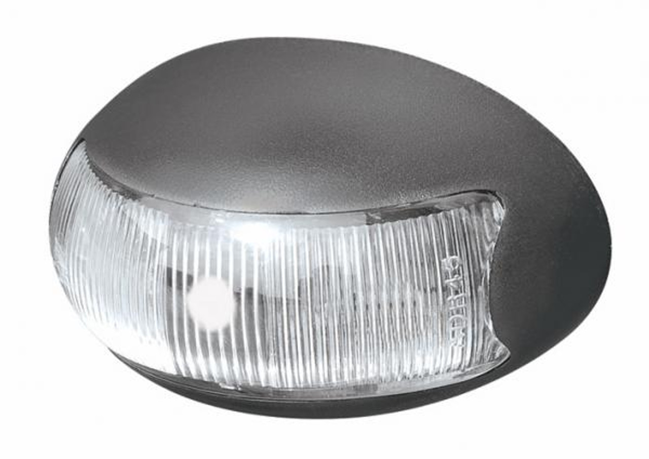 Roadvision Front White Marker Clearance LED Light. BR3W Series White with Clear Lens. Chrome and White Base Available. Hella Marker Replacement Light.
