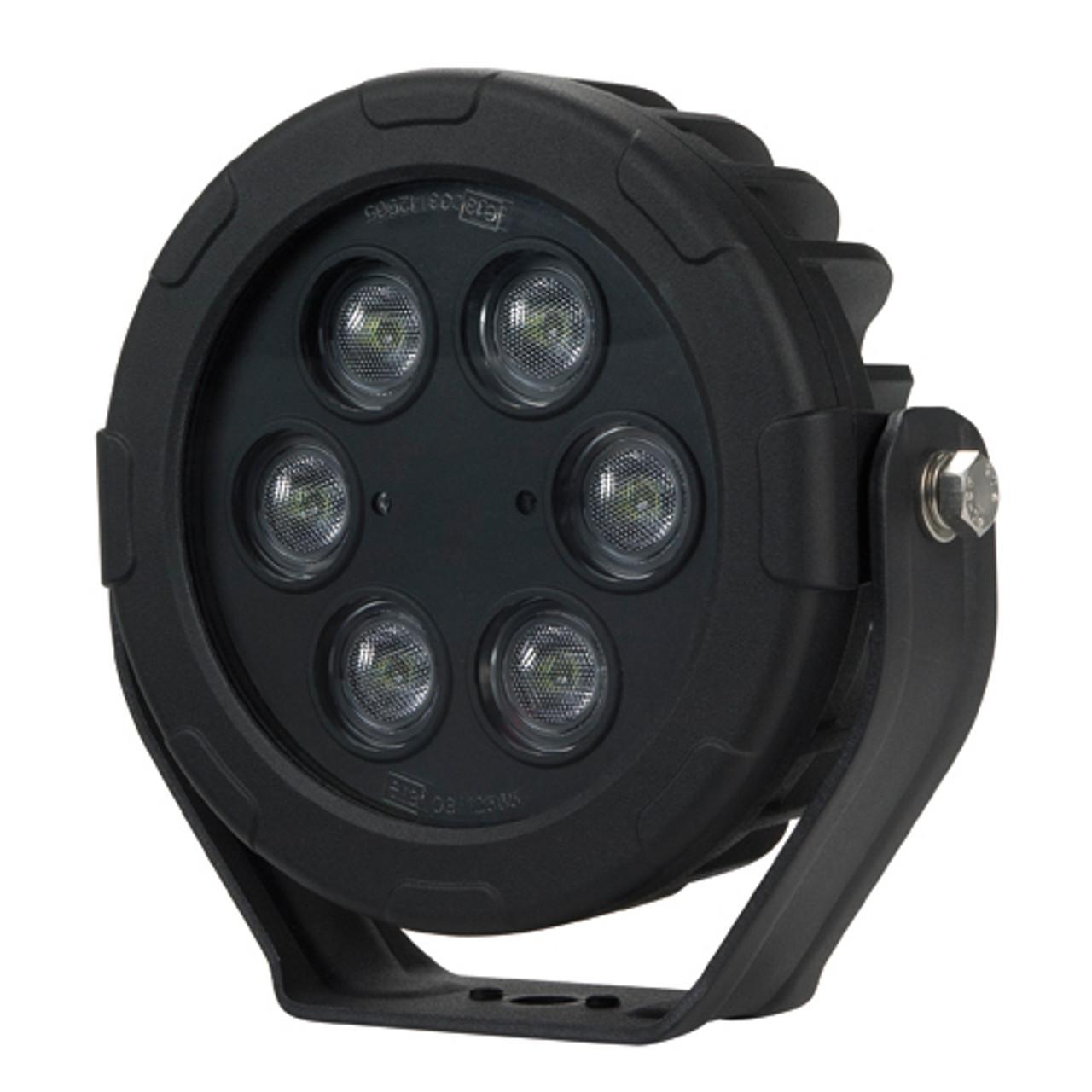 Work Light Flood Beam. 180 mm Round. LED60F. 48 Watt. Submersible Water Rating: IP68. Submersible to 3 Metres