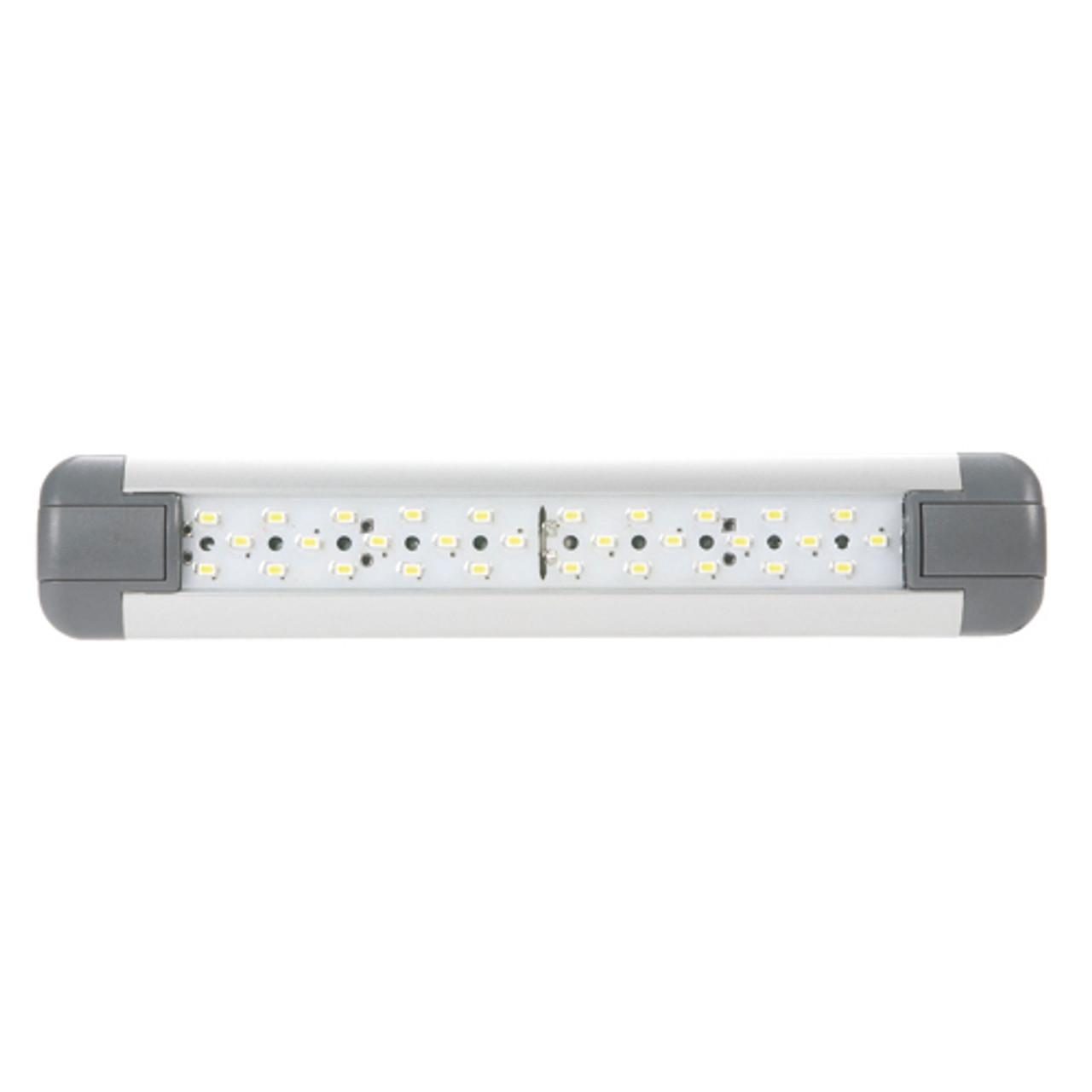 ISLS290MV Interior LED Strip Lamp. Slim and Narrow Unit. Multi-Volt 10v & 24 Volts DC. Push Button On & Off Switch. Single Pack. Tough Unit, Alloy Housing. Length is 290mm Long. 4 watt light. 3 Year Warranty. RoadVision. Ultimate LED.