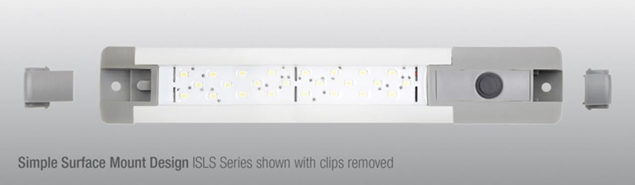 ISLS290MV - Interior, Exterior Lamp LED 12 and 24 volt, 4 watt Strip Lamp On/Off Switch. Heavy Duty Unit. Single Pack. RV. Ultimate LED