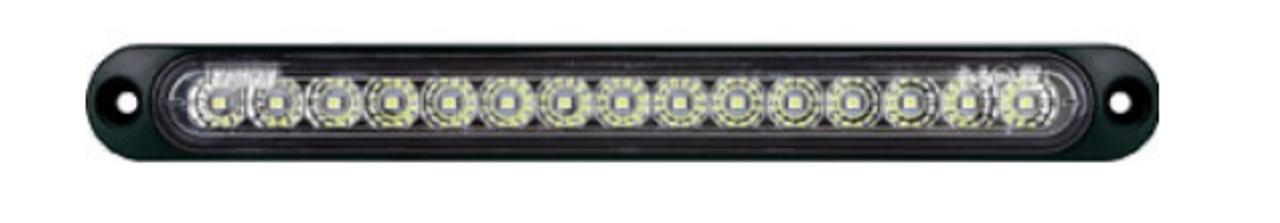 Bright, Sexy, Durable, Slimline Reverse LED Light. BR70W. Multi-Volt 12v and 24v DC Systems. Ultimate LED