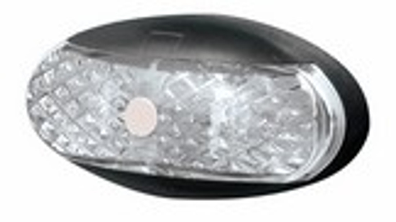 Roadvision Front White Marker Clearance LED Light. BR1W Series White with Clear Lens