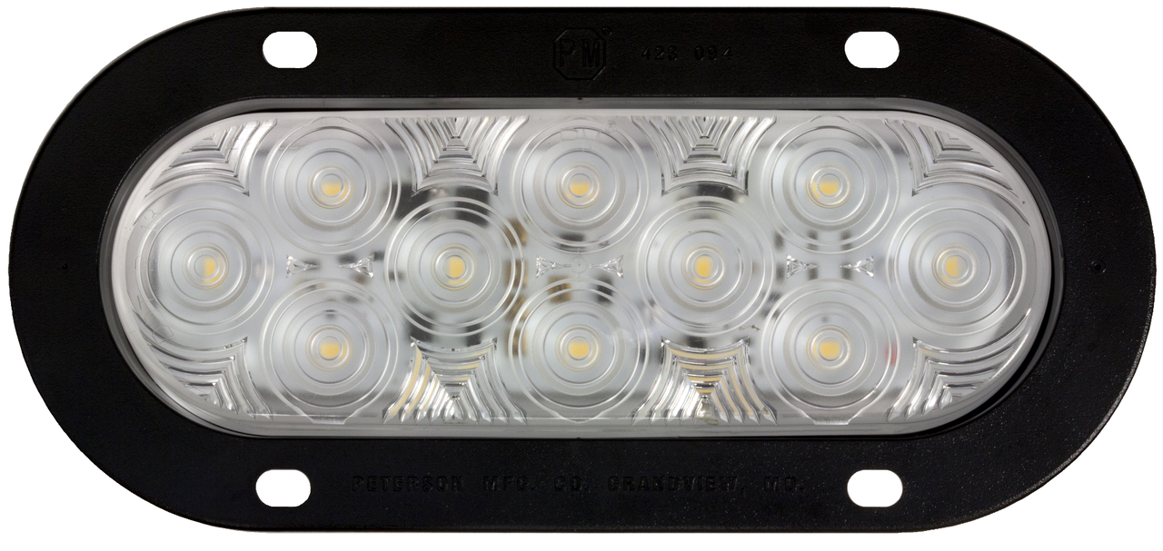 Quality LED Reverse Lamp. Peterson USA – Made in the USA. Oval – Flush Mount with Flange Mounting. New LumenX Range