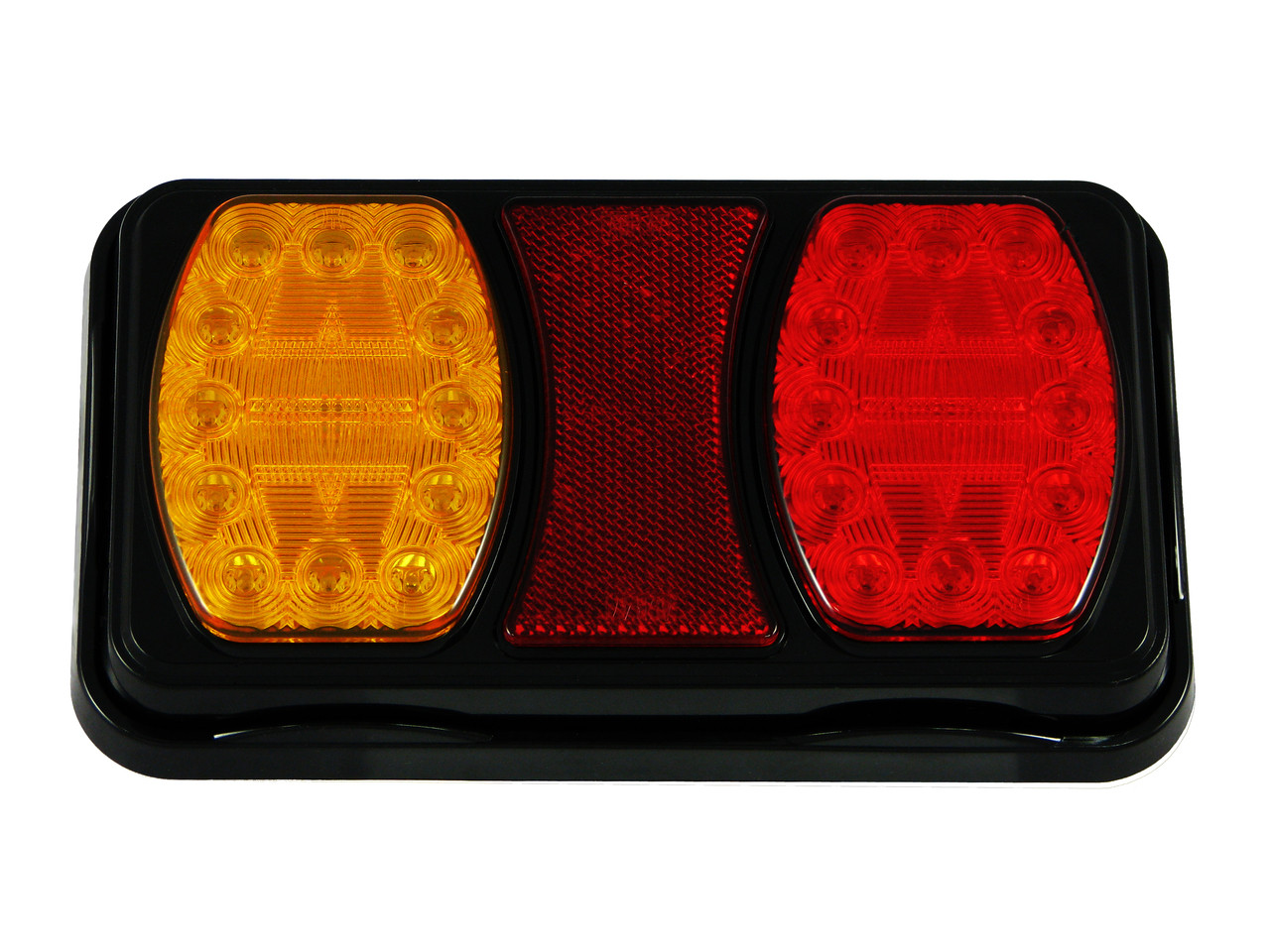 228RV. Compact LED Tail Light. Stop, Tail Indicator Lamp with built-in Reflectors. Quality, Tough Light. Caravan Friendly. Multi-Volt 12 & 24 Volt Systems. BR100AR. Twin Module LED Light.  Truck, Trailer, Ute or Caravan Tail Light Assembly. Built-in Reflector. Great Quality Tail Light. Weather, Vibration and Dust Proof. Ultimate LED