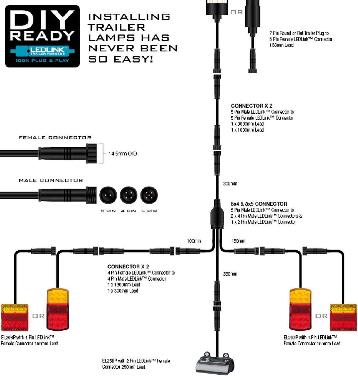 196rv  Box Trailer Led Tail Light Kit  Br208k8x5  Diy