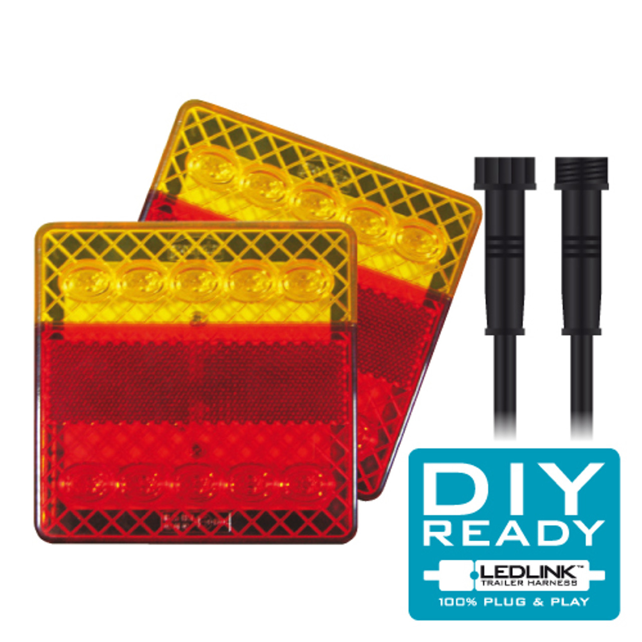Complete Box Trailer LED Tail Light DIY Kit. 12 Volt, Suit Box Trailer 6 x 4. This is a Plug and Play System