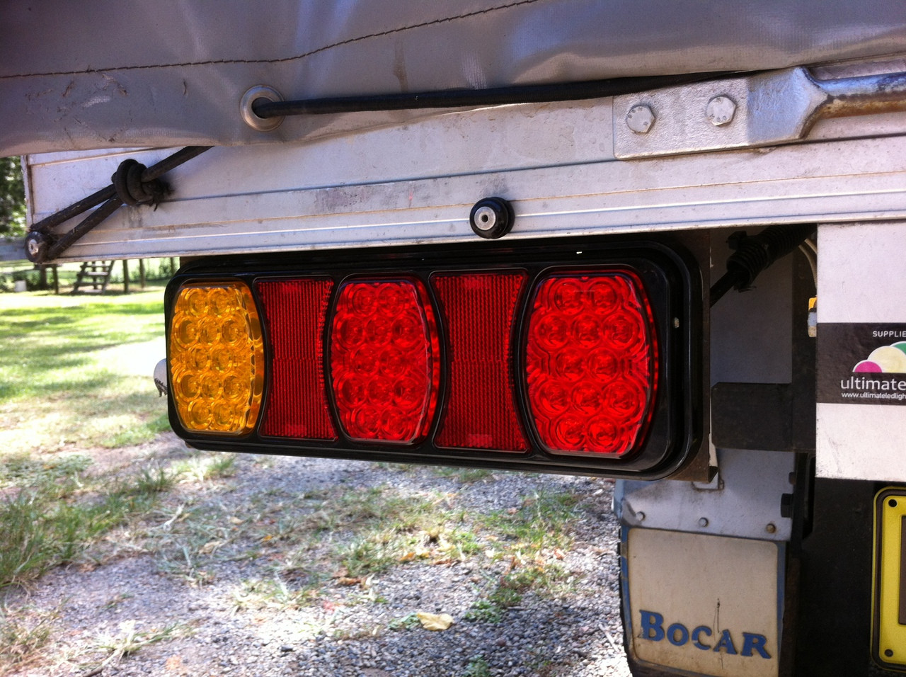 BR80 Series fitted to Tray Top - BR80ARR - Light Truck LED Tail Light Assembly Built in Reflector, Stop, Tail and Indicator. Ultimate LED.