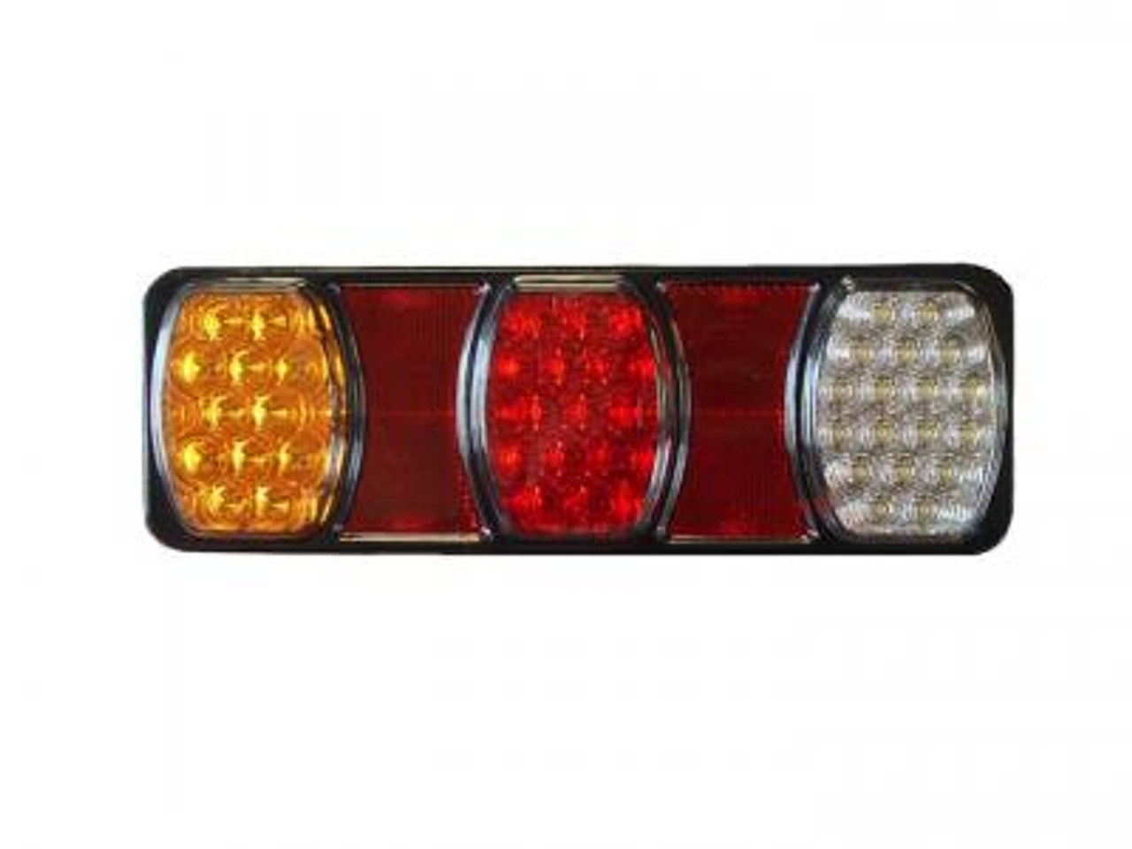 226RV. Compact LED Tail Light. Stop, Tail Indicator & Reverse Lamp with built-in Reflectors. Quality, Tough Light. Caravan Friendly. Multi-Volt 12 & 24 Volt Systems. BR80ARW. Triple Module LED Light.  Truck, Trailer, Ute or Caravan Tail Light Assembly. Built-in Reflector. Great Quality Tail Light. Weather, Vibration and Dust Proof. Ultimate LED
