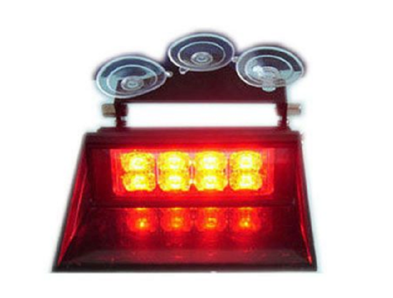 Illuminated Amber Dash Mount, Front Screen Suction Cup Mount Strobe Module. Very Bright. Ultimate LED Australia.