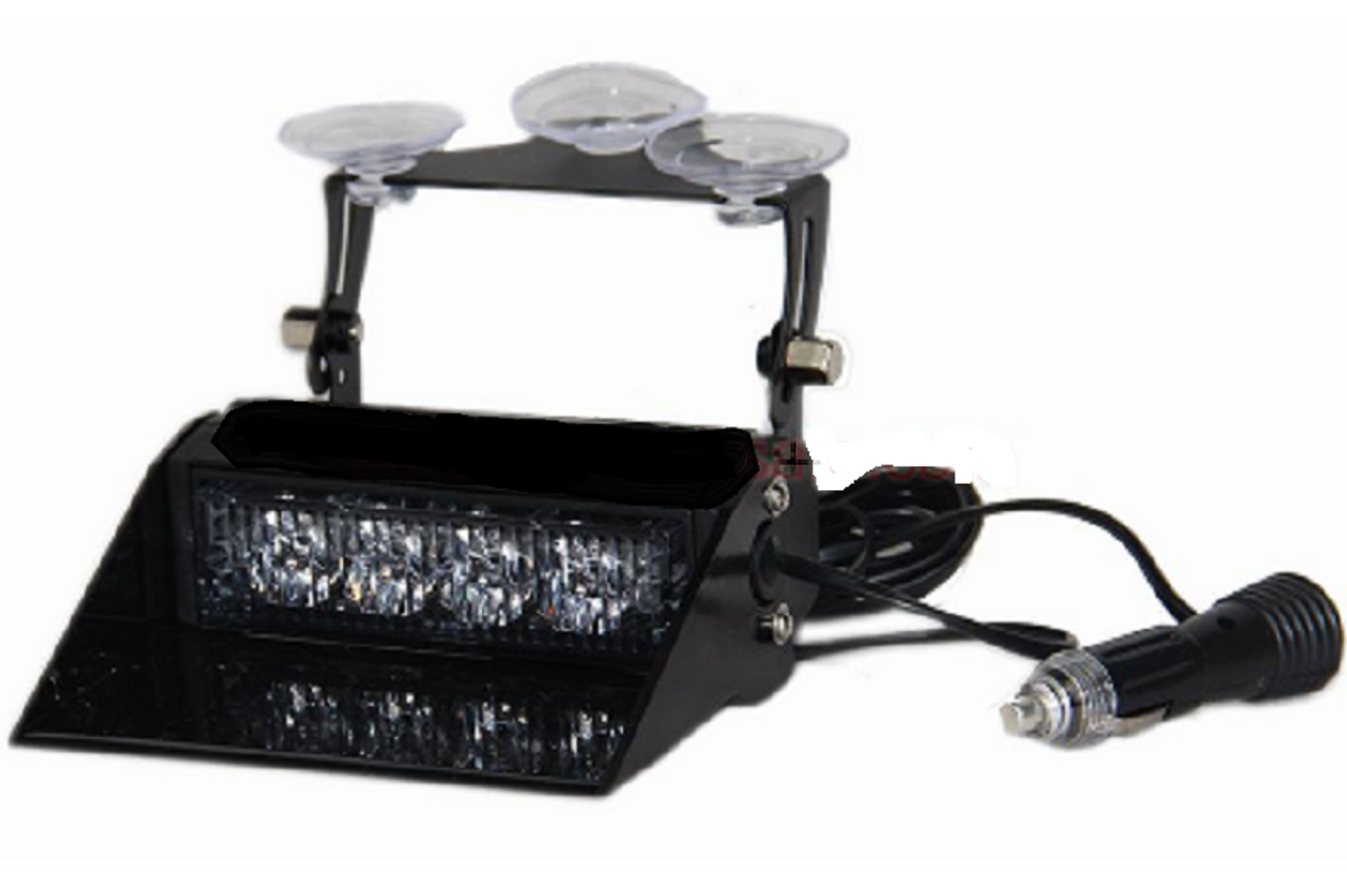 Off Position. Amber Dash Mount, Front Screen Suction Cup Mount Strobe Module. Very Bright. Ultimate LED Australia.