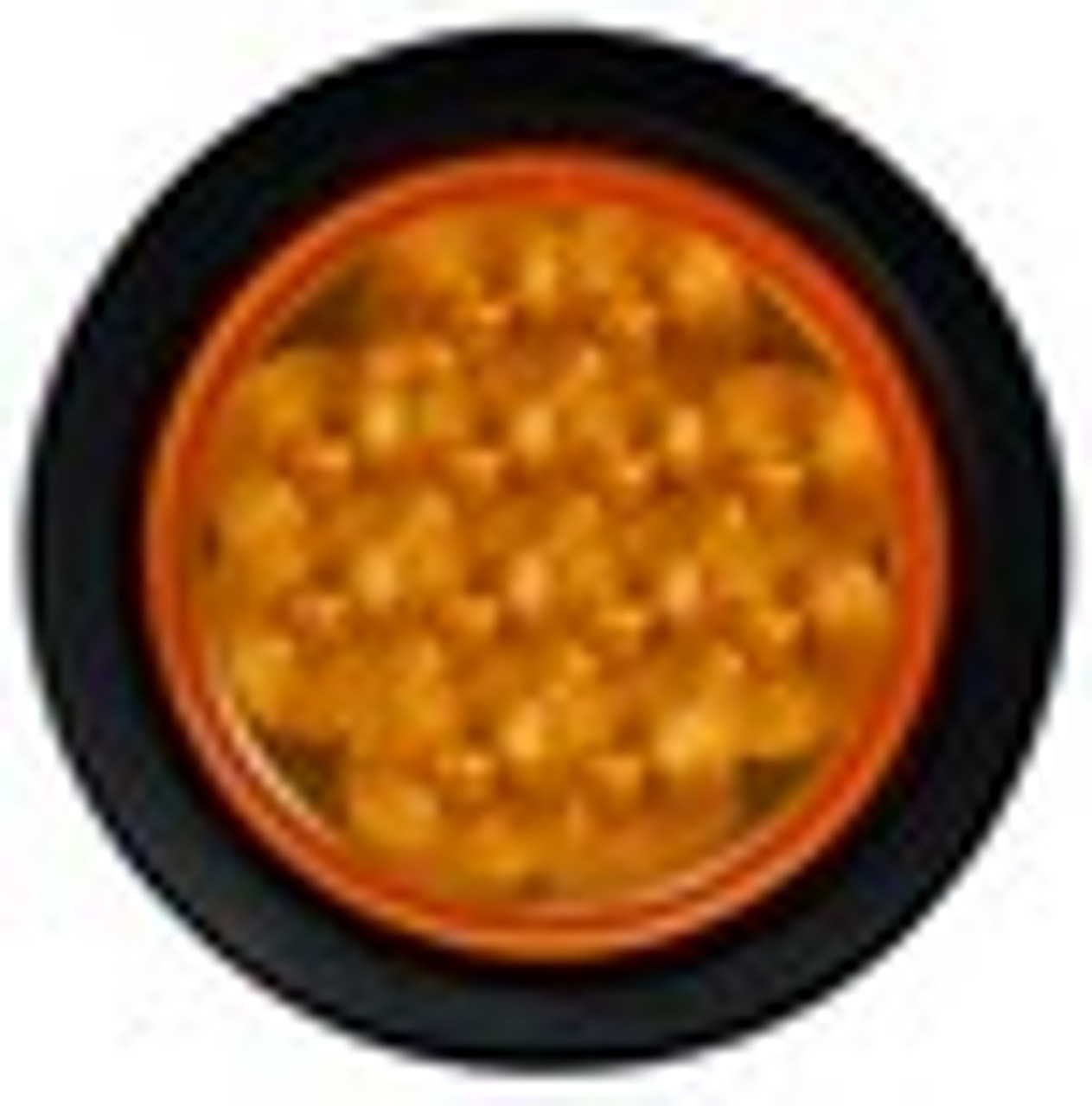 4 inch Round LED Indicator Light with Rubber Grommet. Multi-Volt, 12 & 24v DC Systems
