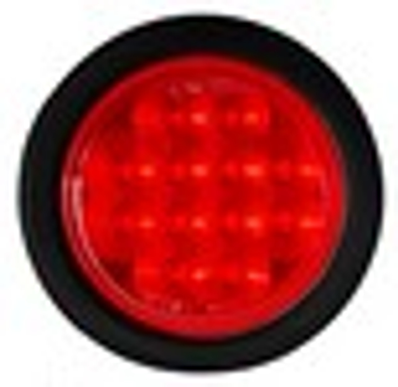 4 inch Round LED Stop, Tail Light with Rubber Grommet. Multi-Volt 12 & 24v DC Systems