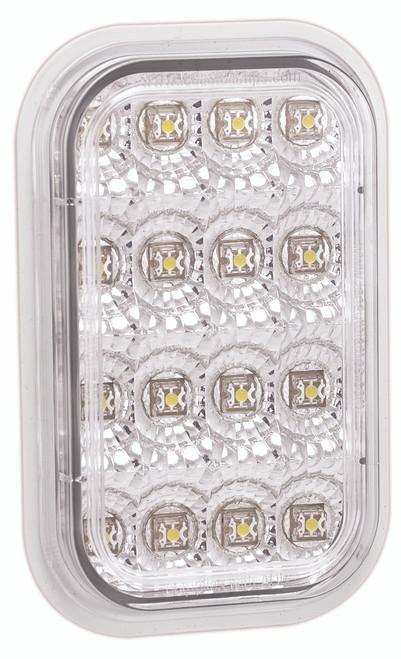 131CRM Stop Tail Light Clear Lens and Red LED Multi-Volt 12v & 24v Single Pack. AL. Ultimate LED. (inactive)