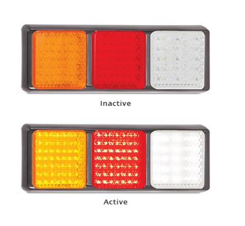 100BARWM Stop, Tail, Indicator & Reverse Multi-Volt 12v & 24v Single Pack. AL. Ultimate LED.
