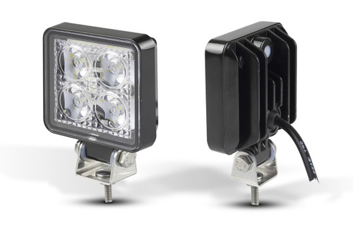 7312BM - 12 Watt Flood Lamp Black Housing Multi-Volt 12v & 24v Blister Single Pack. LED Auto Lamps.  Ultimate LED.