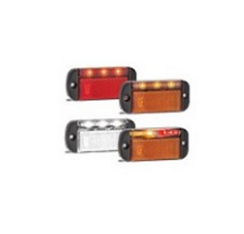 44 Series - 44RME  - Rear End Outline Marker Light with Reflector Multi-Volt 12v & 24v Single Pack. AL. Ultimate LED.