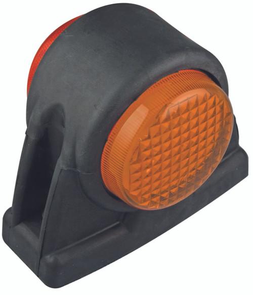 1004ARM - Red Amber Side Marker Multi-Volt 12v & 24v Rubber Housing Single Pack. AL. Ultimate LED.