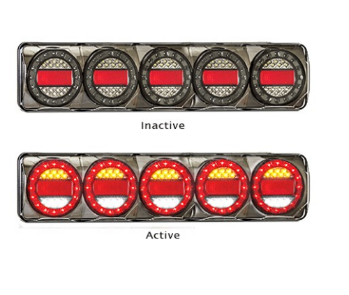 MAXILAMPC5XRW - Stop Tail Indicator Reverse with Reflectors Multi-volt. AL. Ultimate LED.