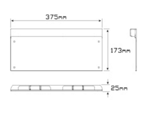 Line Drawing - LP1 - Licence Plate Lamp Light with Black Housing Single Pack 12v & 24v. LED Auto Lamps. Autolamps. Ultimate LED.