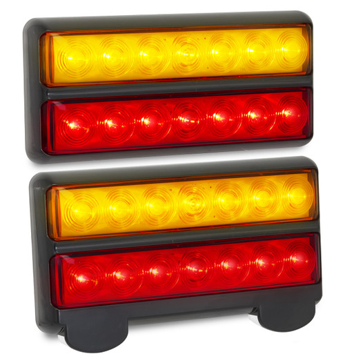 207BARLP2 - Stop, Tail, Indicator & Licence Plate Lamp 12v Twin Pack. Ultimate LED. (Active)