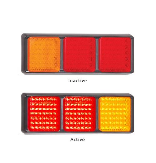 100BARRM Stop, Tail, Indicator Multi-Volt 12v & 24v Single Pack. AL. Ultimate LED.