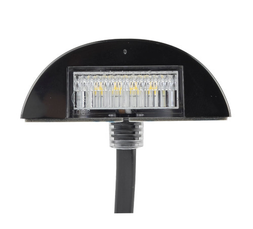 60BLM - Licence Plate Lamps 3m Design Low Profile Black Housing Multi-Volt 12v & 24v Twin Pack. AL. Ultimate LED.