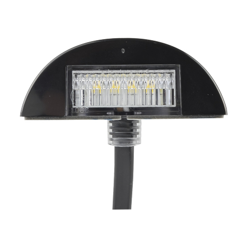 60BLM -  Licence Plate Lamp Light, 3m Design Compact Design, Low Profile, Multi-Volt 12v & 24v Blister Twin Pack. Black Base. LED Auto Lamps. Ultimate LED.