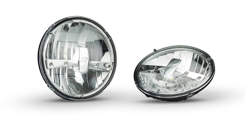 HL174 - 7inch Sealed Beam Headlamp High Beam with Park Function. Multi-Volt 10v & 32v Blister Twin Pack. LED Auto Lamps.  Ultimate LED.