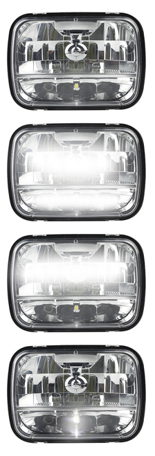 HL165 - 5 x 7' Sealed Beam Headlamp Low & High Beam with Park Function. Multi-Volt 10v & 32v Blister Twin Pack. LED Auto Lamps. Ultimate LED.
