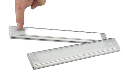 40770S - Interior Strip Lamp with On & Off Touch Button Opaque Lens Black Surround 12v Single Pack. AL. Ultimate LED.