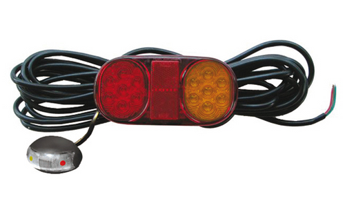 Roadvision LED Boat Trailer Tail Light Kit. Includes Licence Plate Light. Submersible LED Tail Lights. Multi-Volt, 12v & 24v Systems. Surface Mount. 8.3m Lead each Light and Amber, Red Side Marker Lights. 7 Pin Male Trailer Plug and Heat Shrink also Supplied. Proven, Reliable and Tough Boat Trailer Light. Ultimate LED