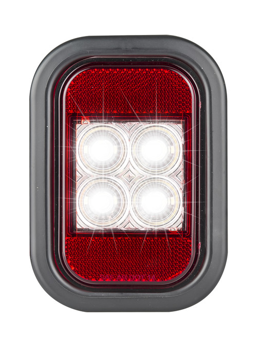 Active - 133WMG - Reverse Light with Reflector, Rectangle. Multi-volt Single Pack. AL. Ultimate LED.