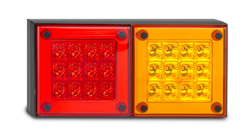 280ARM - Stop Tail Indicator Light Multi-Volt 12v & 24 Volt DC Systems. Caravan Friendly. Red and Amber Lens & Red and Amber LED. Single Pack. LED Auto Lamps. Ultimate LED.