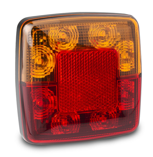 98BAR2 - Stop Tail Indicator Light with Reflector 12 Volt Red, Amber Lens & Red, Amber LED. LED Auto Lamps. Ultimate LED.