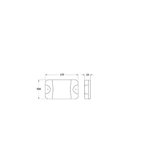 Line Drawing - LS9061 - 180 Series Rear Direction Indicator. Multi-volt. Single Pack. Jaylec. CD. Ultimate LED.