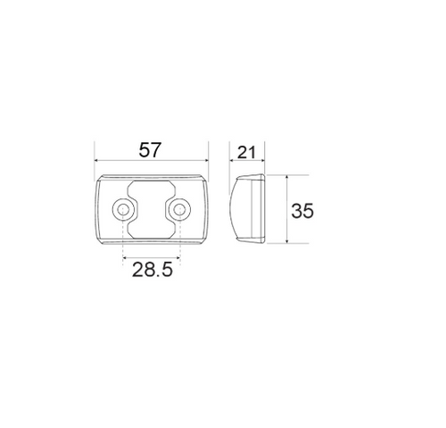 Line Drawing - 91442BL - Side Direction Marker Light Multi-volt Single Pack. Narva. CD. Ultimate LED.